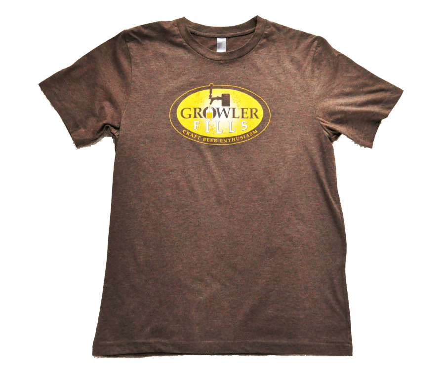 Growler Fills Logo T-shirt in Brown