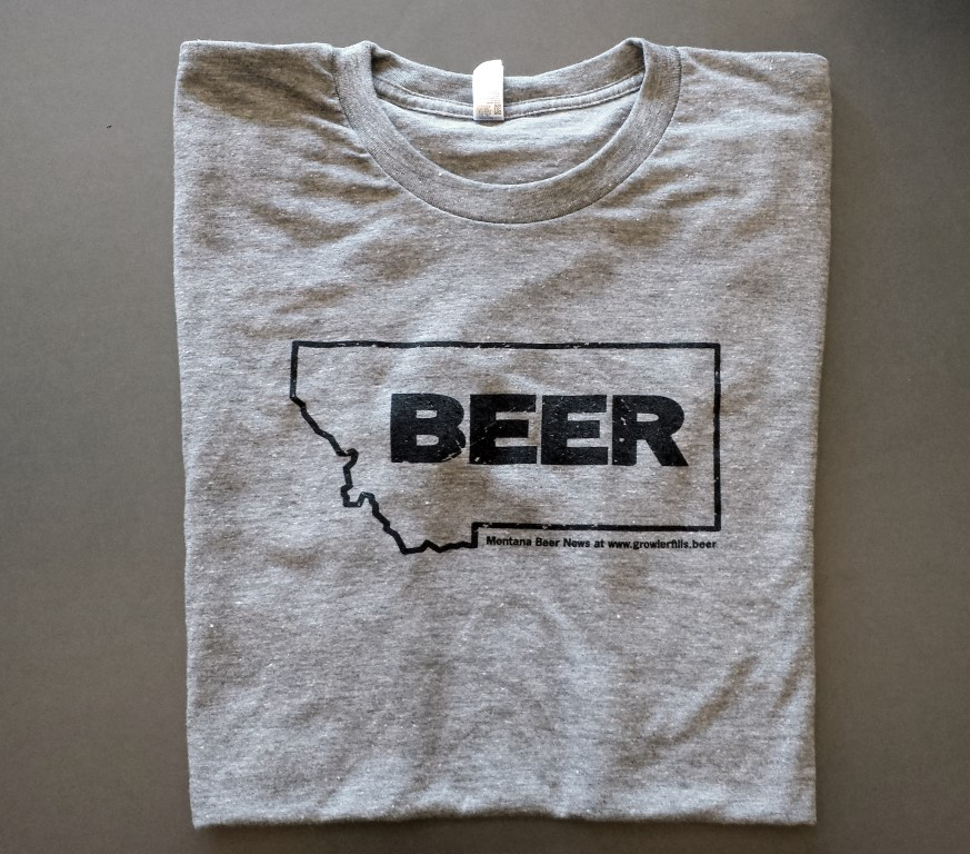 Montana Beer T-shirt in Grey