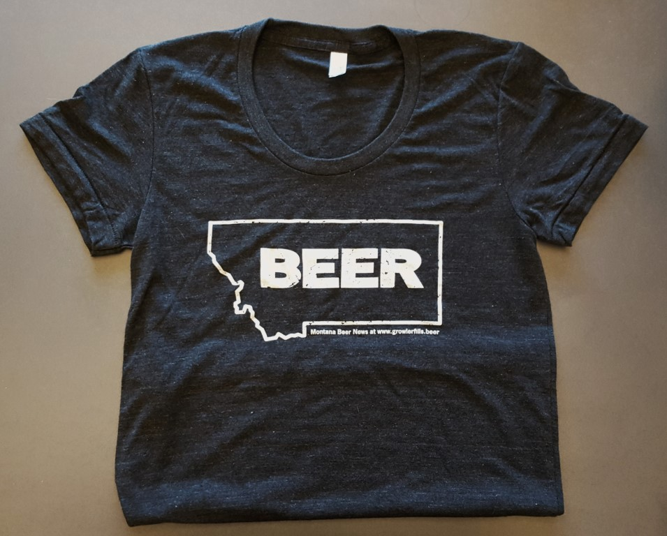Montana Beer T-Shirt in Black (Women's sizing)