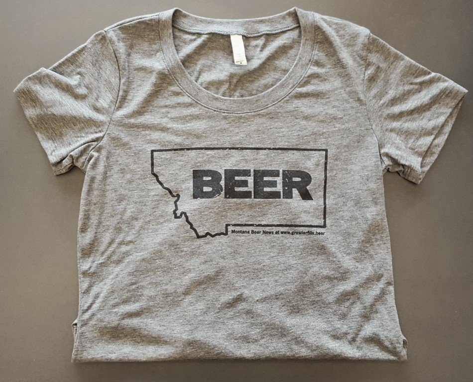 Montana Beer T-Shirt in Grey (Women's sizing)