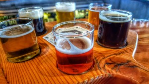 A sampler tray at Manito Tap House