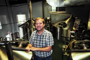 Bjorn Nabozney in Big Sky's Brewhouse. Photo Credit: Alan McCormick